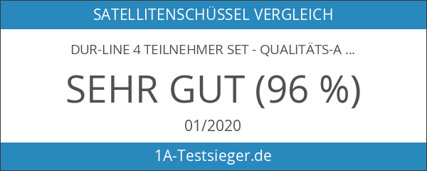DUR-line 4 Teilnehmer Set - Qualitäts-Alu-Sat-Anlage - Select 75
