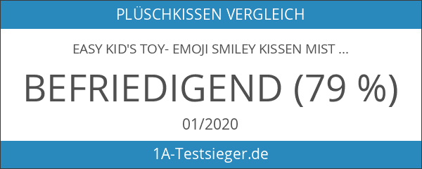 EasY Kid's ToY- Emoji Smiley Kissen Mister Plüsch knallig gelbe