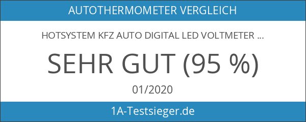 HOTSYSTEM KFZ Auto Digital LED Voltmeter & Thermometer 12V- 24V