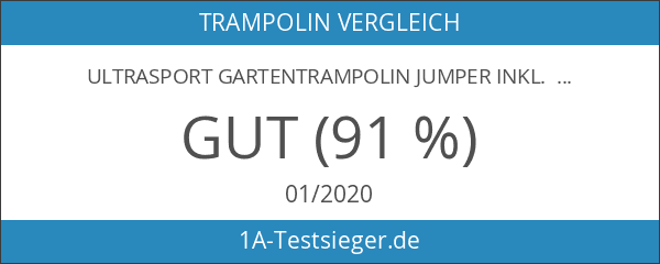 Ultrasport Gartentrampolin Jumper inkl. Sicherheitsnetz