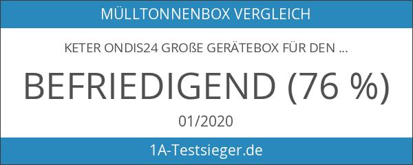 Keter Ondis24 große Gerätebox für den Garten als Gartenmöbelbox Mülltonnenbox