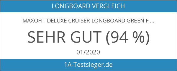 MAXOfit Deluxe Cruiser Longboard Green Fire No.13