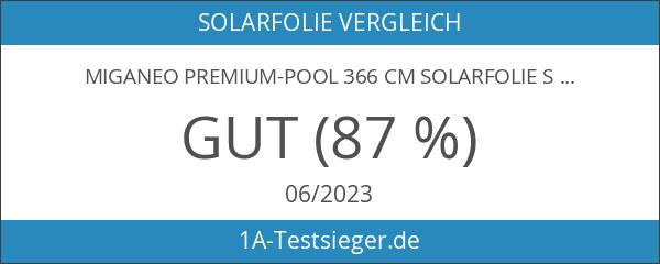 Miganeo Premium-Pool 366 cm Solarfolie Solarplane schwarz
