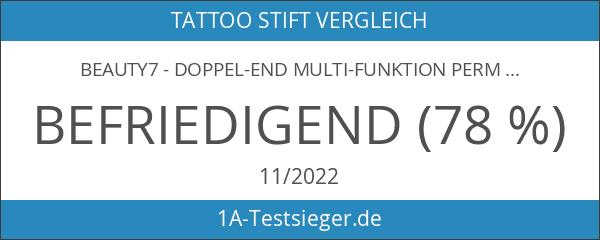 Beauty7 - Doppel-End Multi-Funktion Permanent Augenbrauen Tattoo Stift Augenbrauen-Tätowierung-Feder Microblading
