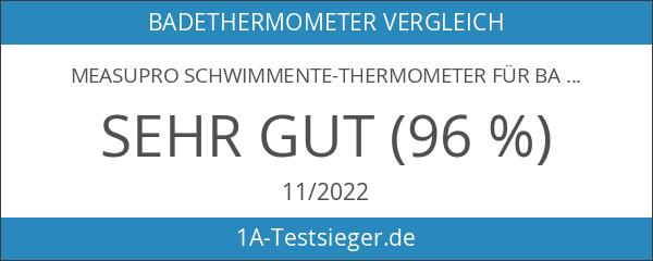 MeasuPro Schwimmente-Thermometer für Badewasser- und Raumtemperatur mit Uhr