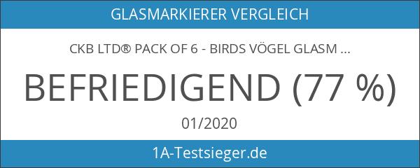 CKB Ltd® Pack of 6 - Birds Vögel Glasmarker Wein