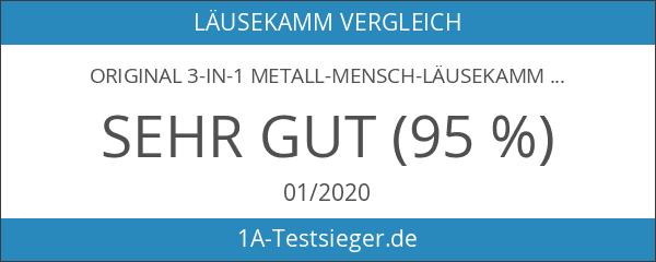 Original 3-in-1 Metall-Mensch-Läusekamm Lausinator Nissenkamm extra fein – Kinder und