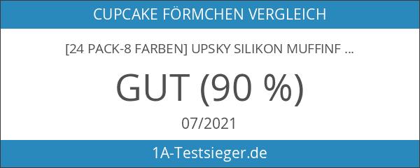 [24 Pack-8 Farben] Upsky Silikon muffinform Muffin Cupcake Backförmchen Muffinförmchen