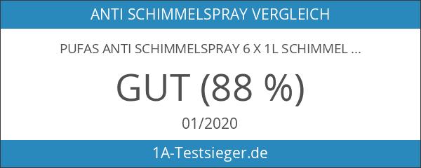 Pufas Anti Schimmelspray 6 x 1L Schimmel-Entferner-Spray
