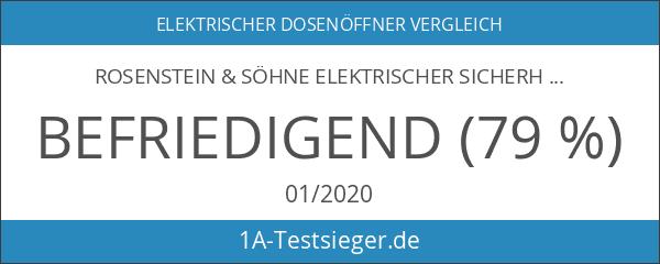 Rosenstein & Söhne Elektrischer Sicherheits-Dosenöffner zur wiederverschließbarer Öffnung