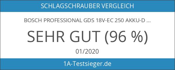 Bosch Professional GDS 18V-EC 250 Akku-Drehschlagschrauber maximal 250 Nm Drehmoment