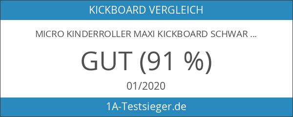 Micro Kinderroller Maxi Kickboard Schwarz mit Lenkstick