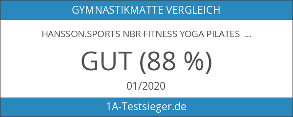Hansson.Sports NBR Fitness Yoga Pilates Gymnastikmatte 183x80x1