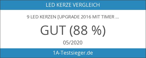 9 LED Kerzen [Upgrade 2016 mit Timer