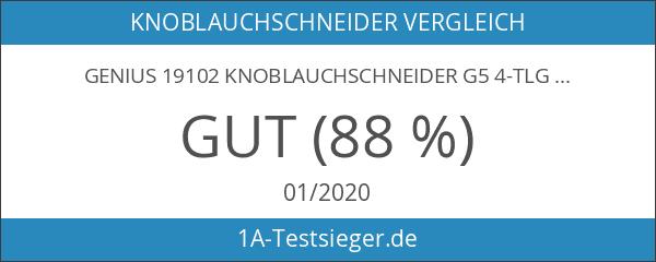 Genius 19102 Knoblauchschneider G5 4-tlg. Weiß