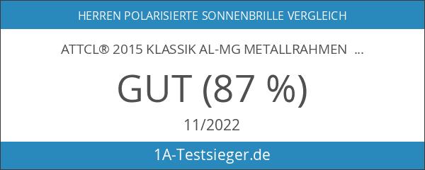 ATTCL® 2015 Klassik Al-Mg Metallrahmen Polarisierte Fahren Aviator Sonnenbrille Herren