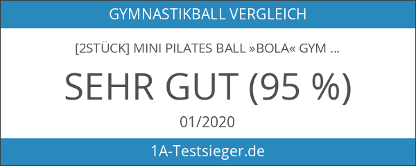 [2Stück] Mini Pilates Ball »Bola« Gymnastikball: Effektives Training gegen Verspannungen