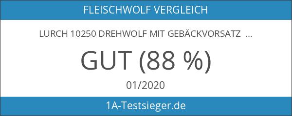 Lurch 10250 Drehwolf mit Gebäckvorsatz aubergine