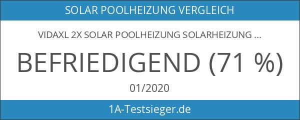 vidaXL 2x Solar Poolheizung Solarheizung Solarkollektor Heizung Schwimmbad 735 W