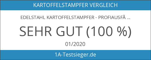 Edelstahl Kartoffelstampfer - Profiausführung - 10 Jahre Garantie! - Precision