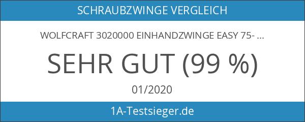 Wolfcraft 3020000 Einhandzwinge Easy 75-150