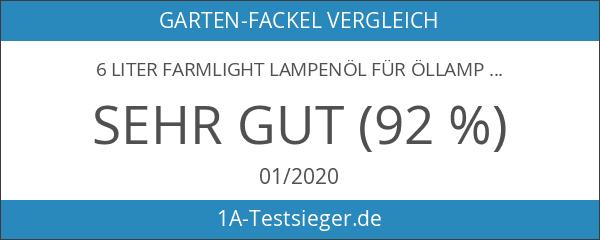 6 Liter Farmlight Lampenöl für Öllampen Bambusfackeln Gartenfackel und Wandfackeln