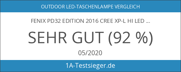 Fenix PD32 Edition 2016 Cree XP-L HI LED Taschenlampe max.
