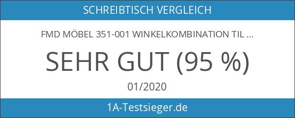 FMD Möbel 351-001 Winkelkombination Till circa 205 x 76 x