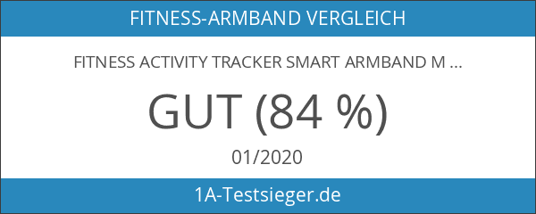 Fitness Activity Tracker Smart Armband mit Pulsmesser