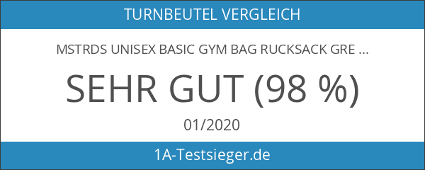 MSTRDS Unisex Basic Gym Bag Rucksack grey One einfarbiger Turnbeutel