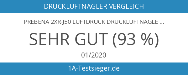 Prebena 2XR-J50 Luftdruck Druckluftnagler im Transportkoffer