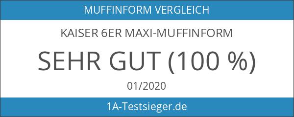 KAISER 6er Maxi-Muffinform Standardgröße 34 x 22 cm Creativ sehr
