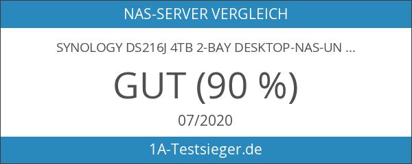 Synology DS216j 4TB 2-Bay Desktop-NAS-Unit