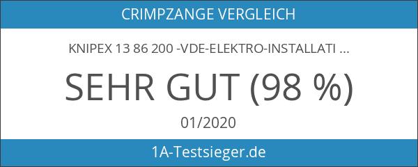 KNIPEX 13 86 200 -VDE-Elektro-Installationszange mit 6 Funktionen 200 mm