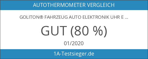 Goliton® Fahrzeug Auto Elektronik Uhr Elektronische Uhr Thermometer - Schwarz