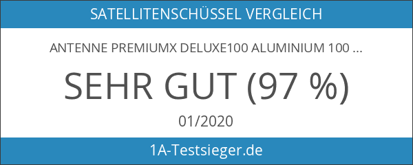 Antenne PremiumX DELUXE100 Aluminium 100cm Digital SAT Schüssel Spiegel in