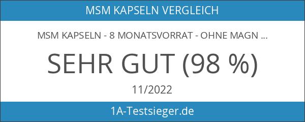 MSM Kapseln - 8 Monatsvorrat - Ohne Magnesiumsterat - OptiMSM