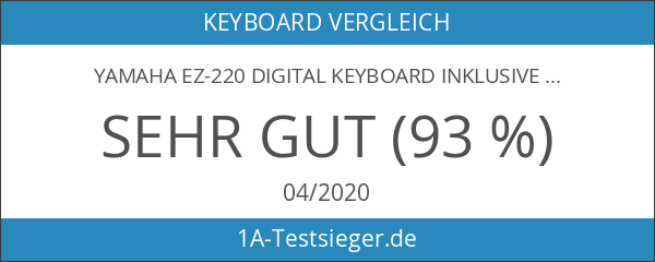Yamaha EZ-220 Digital Keyboard inkl.Netzteil