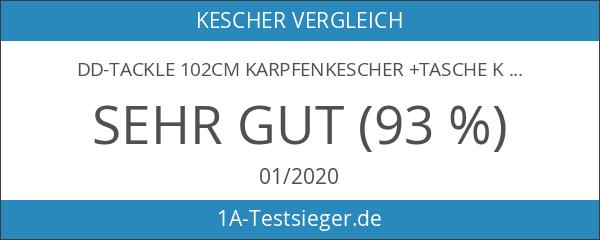 DD-Tackle 102cm Karpfenkescher +Tasche Kescher Unterfangkescher Metall Block Kescherkopf