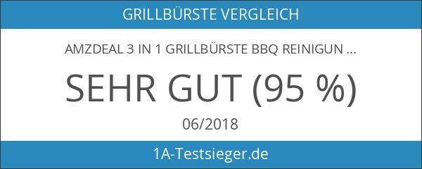 """Amzdeal3 in 1 Grillbürste BBQ Reinigungswerkzeuge Zubehör-360° Reinigung - 18""""Extra"""
