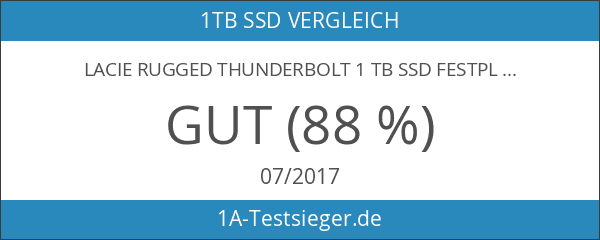 LaCie Rugged Thunderbolt 1 TB SSD Festplatte - für MAC)