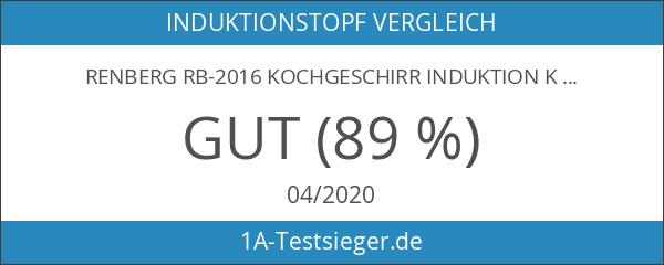 RENBERG RB-2016 Kochgeschirr Induktion Koch Topf mit Deckel Set 12