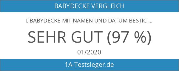 ★ Babydecke mit Namen und Datum bestickt ★ MINKY ★