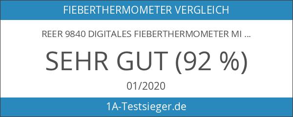 reer 9840 Digitales Fieberthermometer mit flexibler und vergoldeter Messspitze