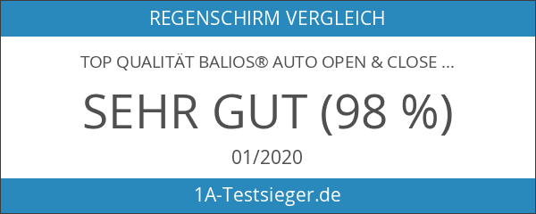 Top Qualität Balios® Auto Open & Close Regenschirm - Schwarz