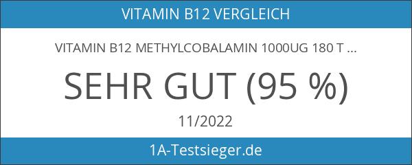 Vitamin B12 Methylcobalamin 1000ug 180 Tablletten von Nu U Nutrition