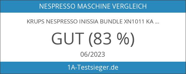 Krups Nespresso Inissia Bundle XN1011 Kaffeekapselmaschine weiß