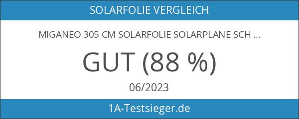 Miganeo 305 cm Solarfolie Solarplane schwarz
