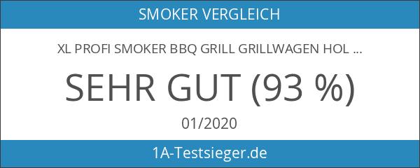XL Profi Smoker BBQ Grill Grillwagen Holzkohle 1