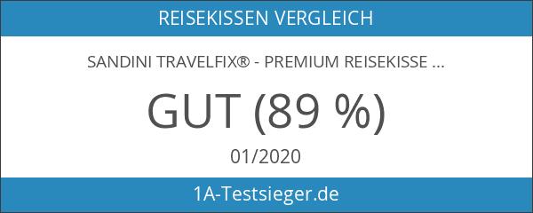 SANDINI TravelFix® - Premium Reisekissen mit ergonomischer Stützfunktion - GROSSE